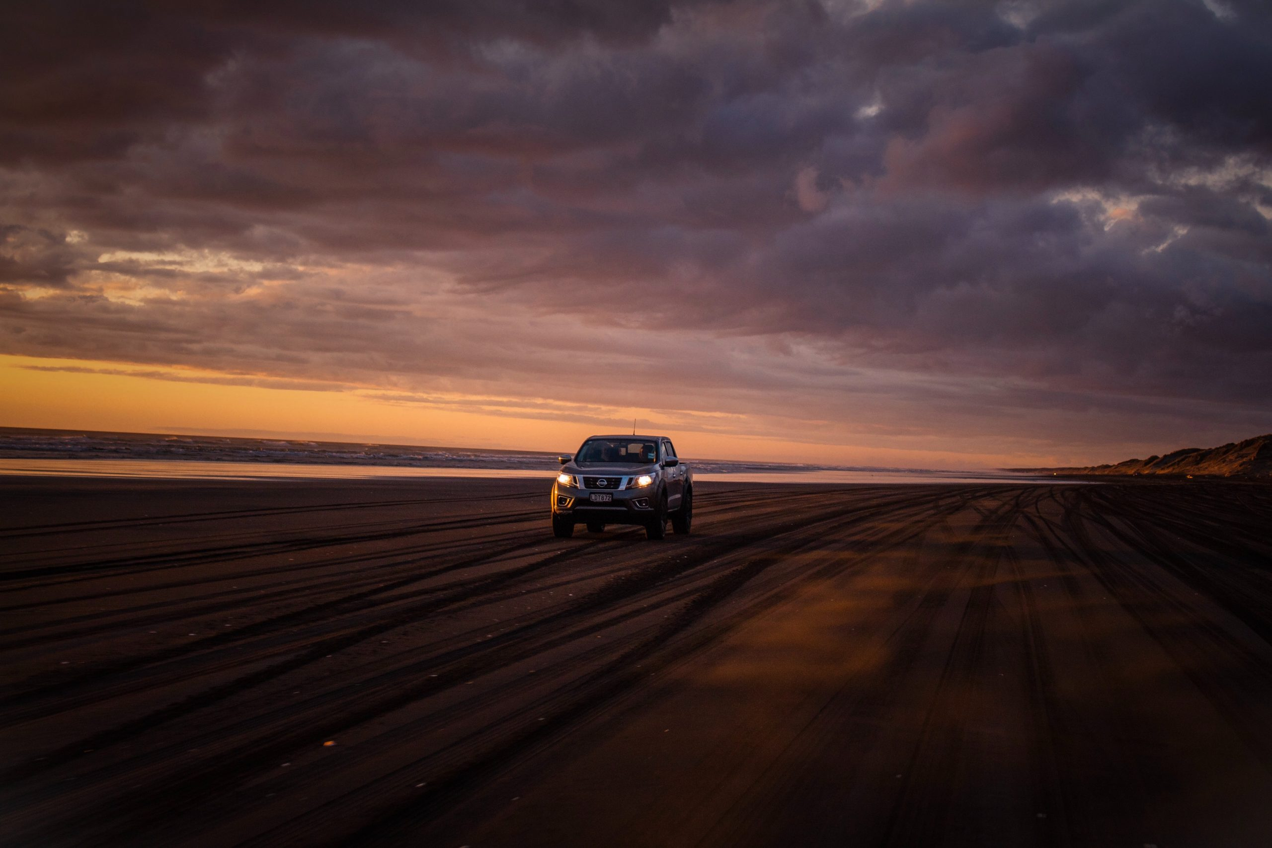 diesel remapping Maroochydore - SUV driving on sand at night