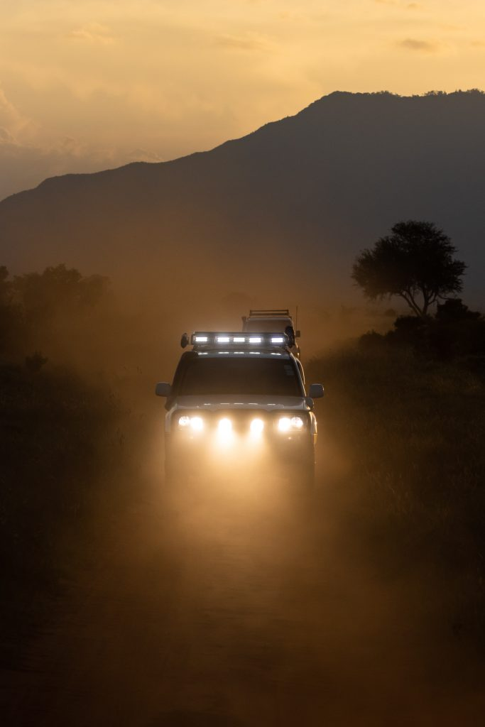 Toyota Hilux Power Upgrades - pickup driving in mist