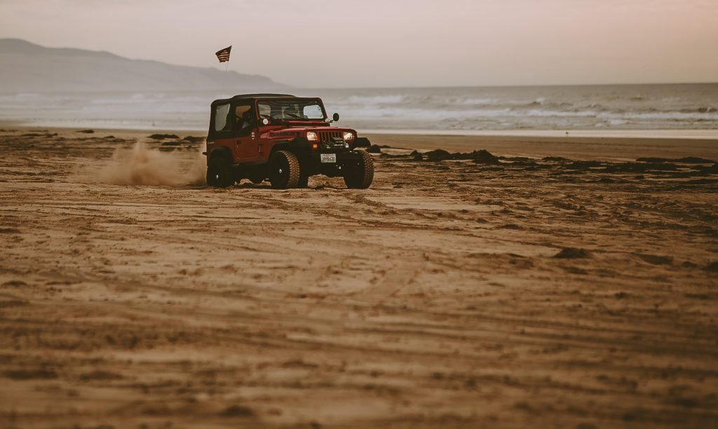 ECU Remapping - red car on sand